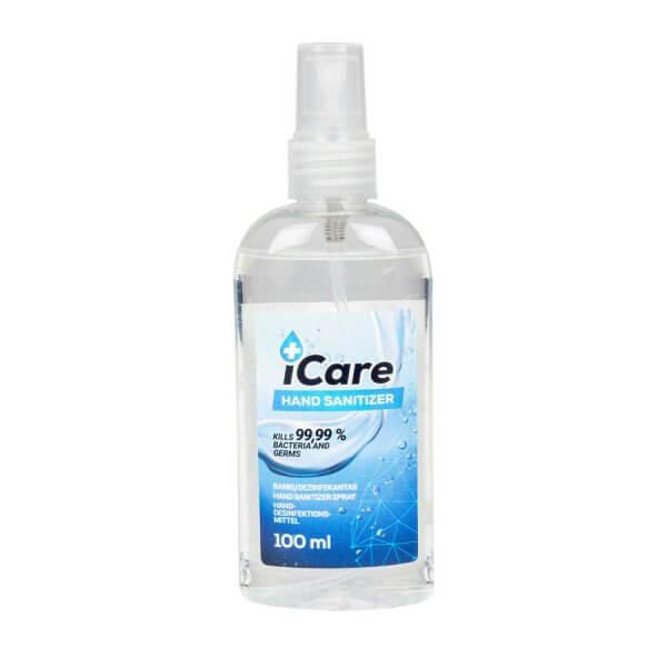 Rankų dezinfekantas iCare su purškikliu, 100 ml
